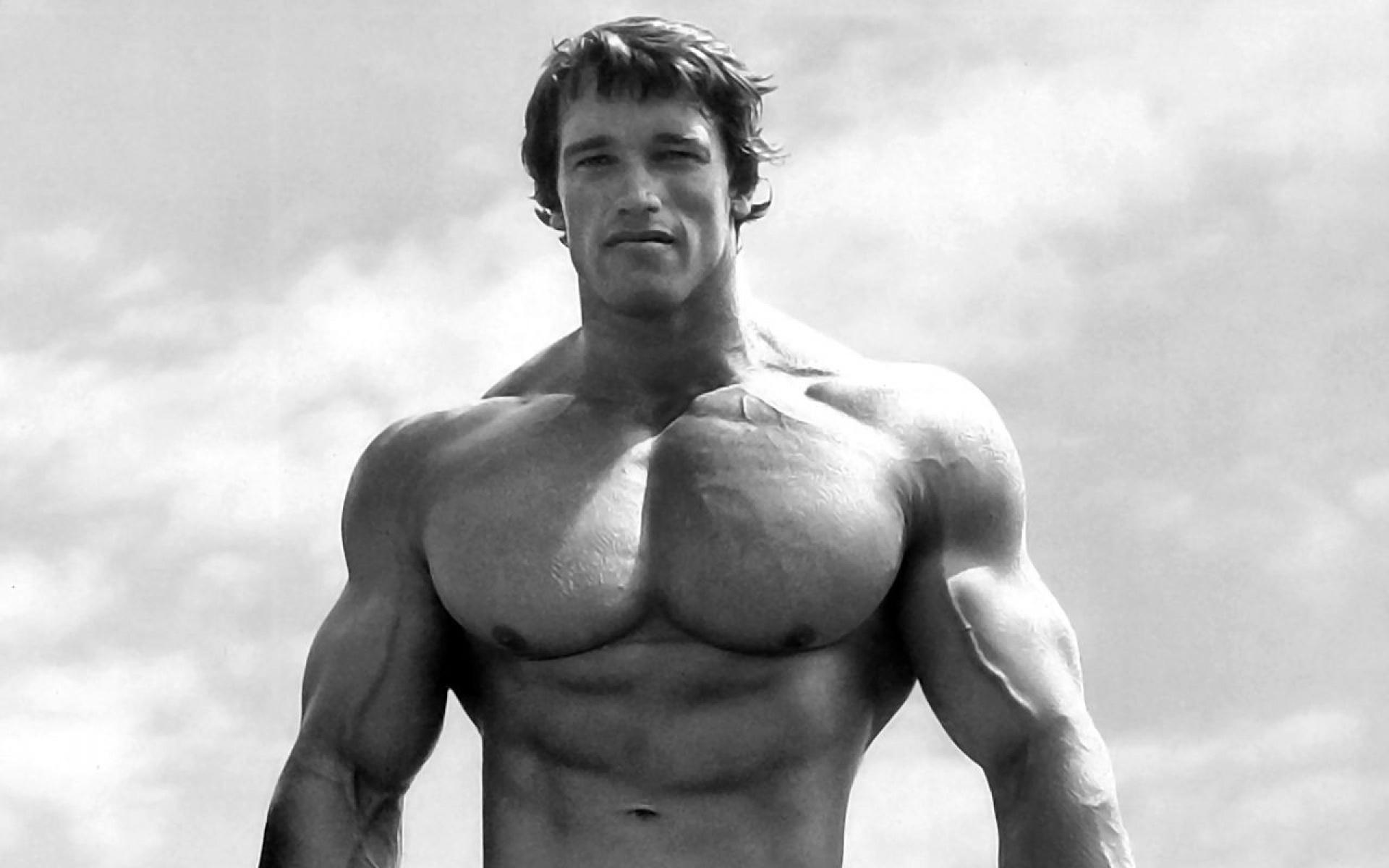 De Arnold Press, schouders trainen als Schwarzenegger 19
