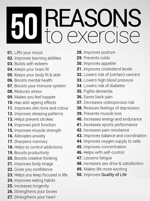 50 redenen om te sporten 12